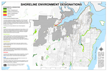 Map of South Kitsap Shoreline Designations