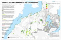 Map of Central Kitsap Shoreline Designations