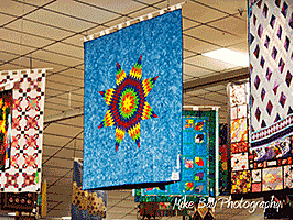 Quilt exhibits at the fair
