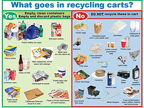 What goes in recycling carts