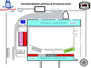 Thunderbird Arena & Stadium Map
