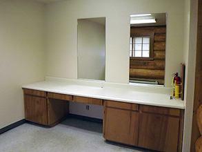 Island Lake Community Building - Inside - Dressing Room